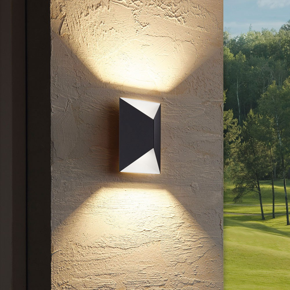 Eglo 93994 LED Aussen-Wandleuchte Protazzo 2 x 2, 5W Anthrazit Weiss