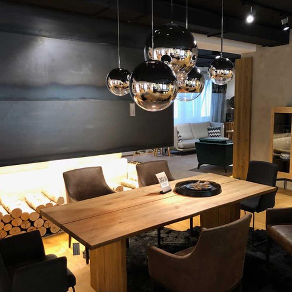 s luce fairy spiegelkugel 40cmpendelleuchte restaurant. Black Bedroom Furniture Sets. Home Design Ideas