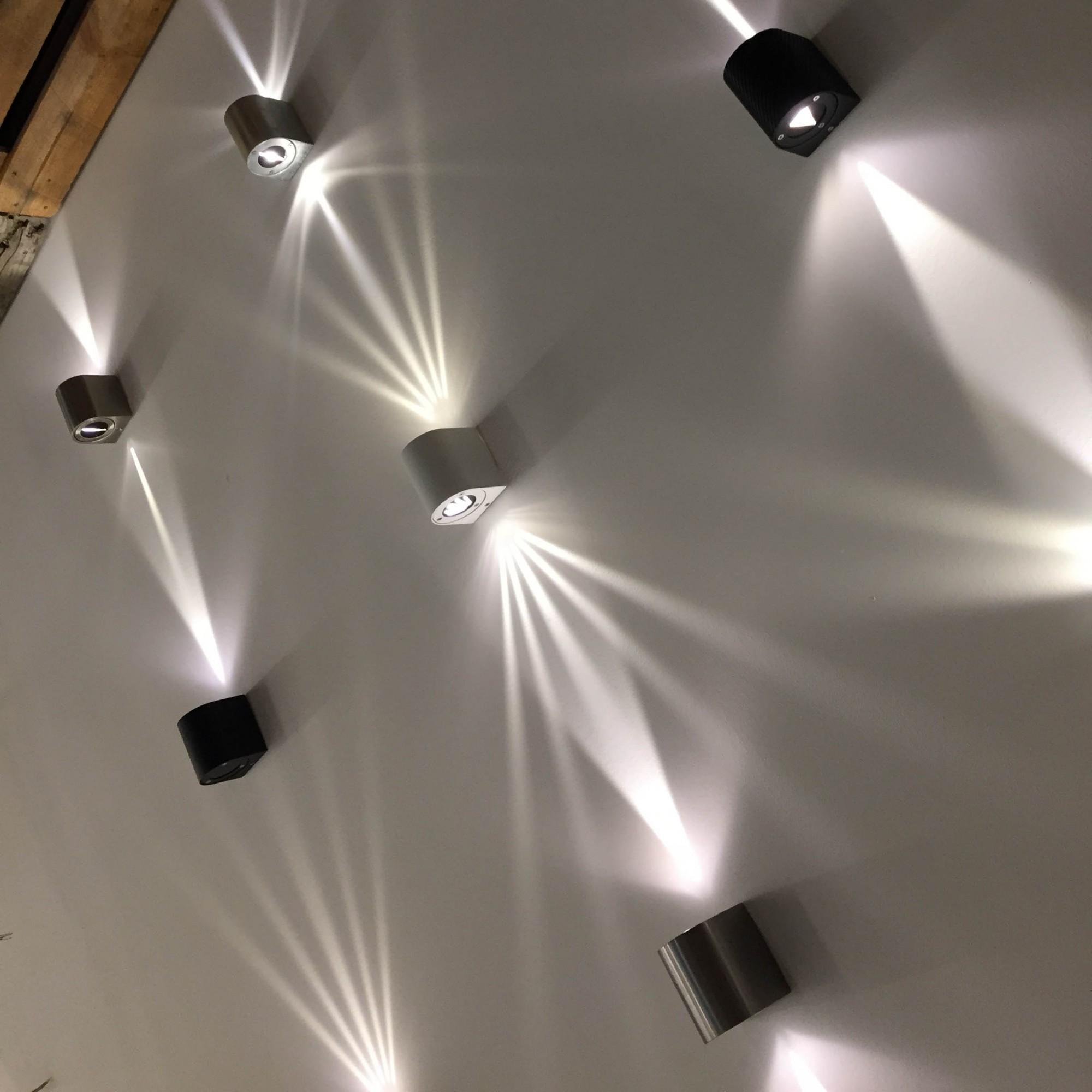 licht trend baleno led wandleuchte f r aussen und innen weiss wandlampe kaufen bei licht. Black Bedroom Furniture Sets. Home Design Ideas