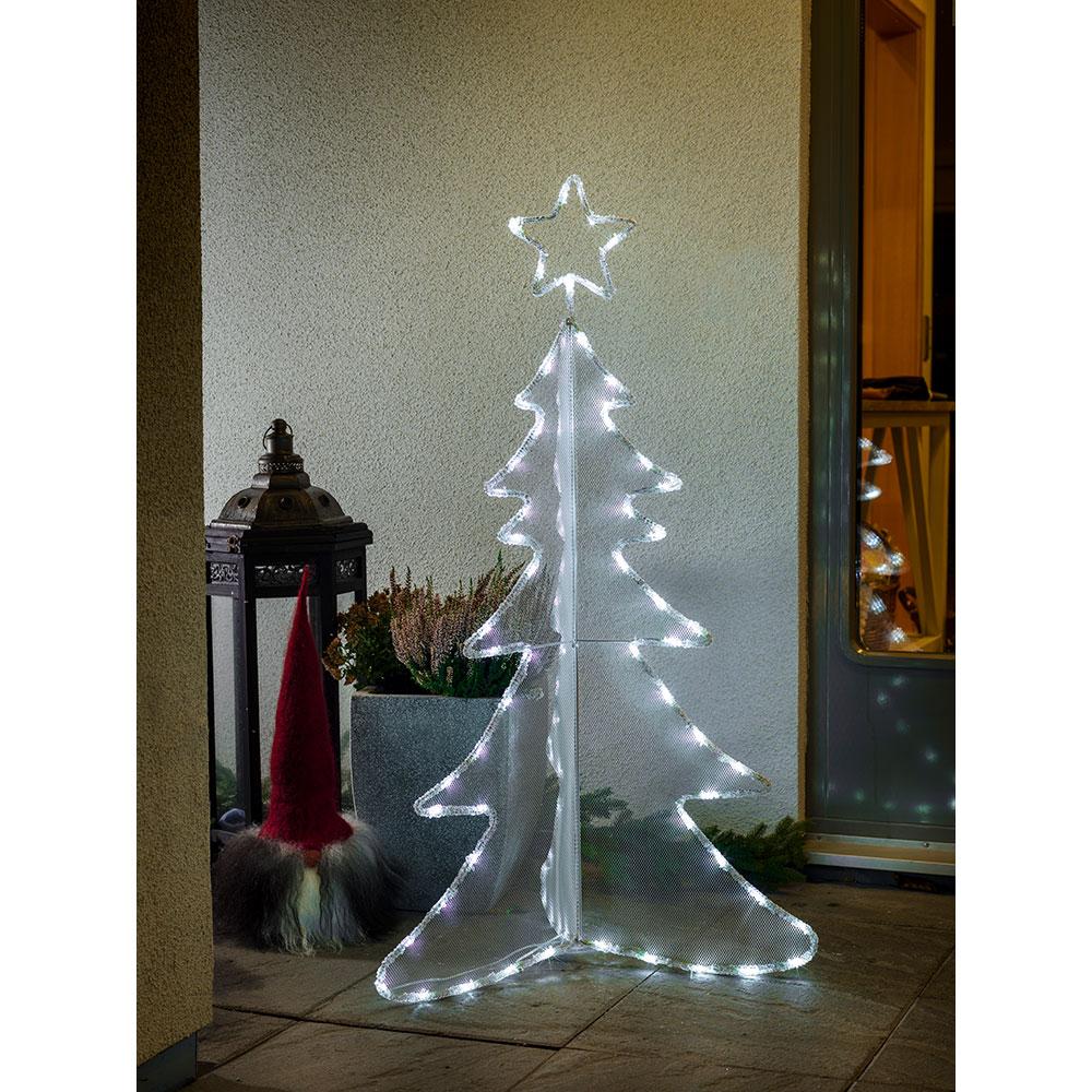 Tannenbaum Acryl.Led Acryl Tannenbaum 3d Groß 80 Kaltweiße Dioden 24v Außentrafo