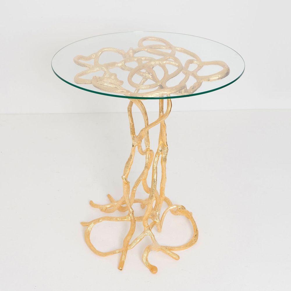 Holländer 344 K 2502 G Tisch Contessa Aluminium Glas Gold Kaufen