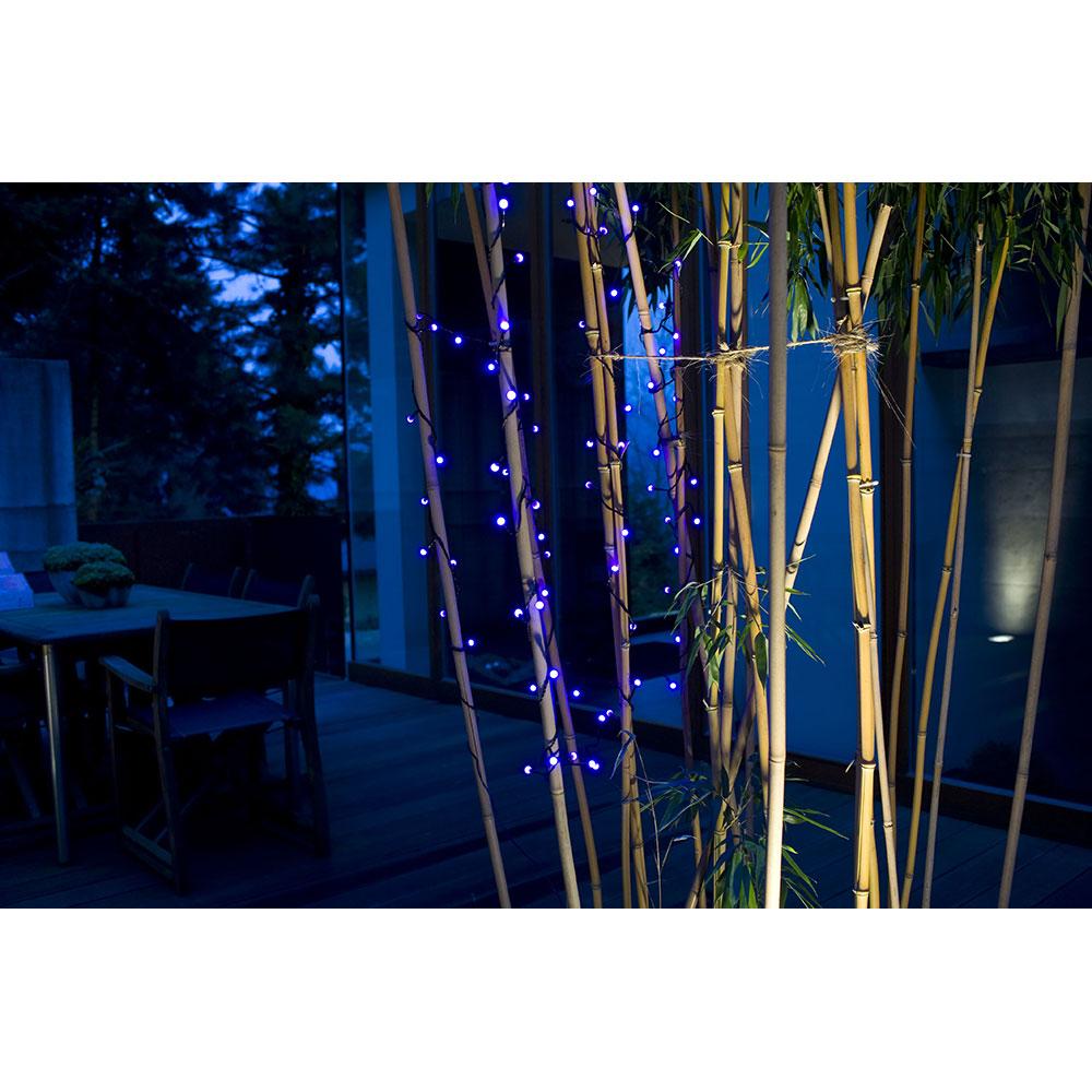 LED Globe-Lichterkette 20er Batterie 3xAA Timer innen blau 1491-407 xmas