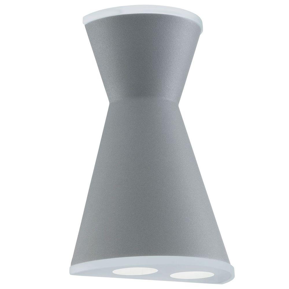 Eglo Eglo Eglo 93488 Morino LED Aussen-Wandleuchte 3-flammig Silber Weiss e9c1bb