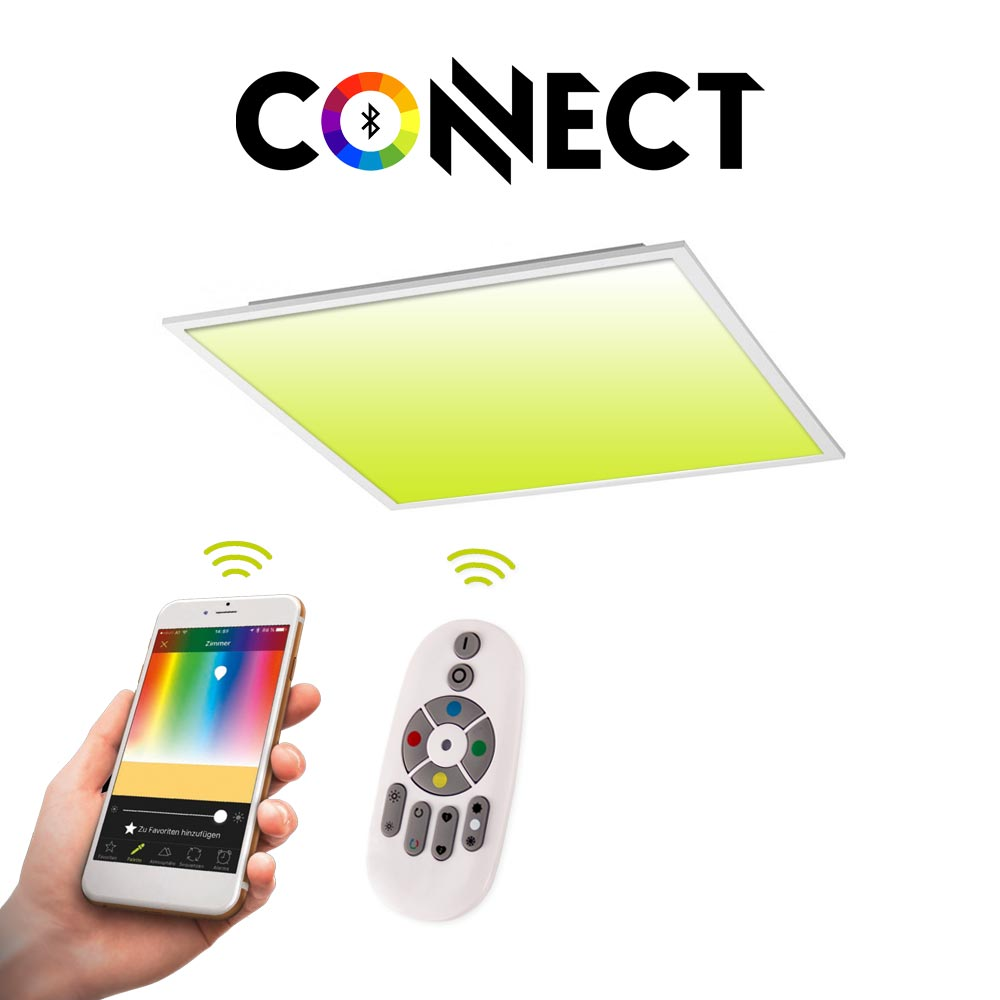 connect led panel 30x30 cm 2000 lumen 16w rgb cct led deckenleuchte lampe kaufen bei licht. Black Bedroom Furniture Sets. Home Design Ideas