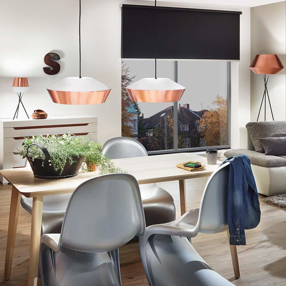 s luce led pendelleuchte skada 40cm in kupfer schwarz. Black Bedroom Furniture Sets. Home Design Ideas