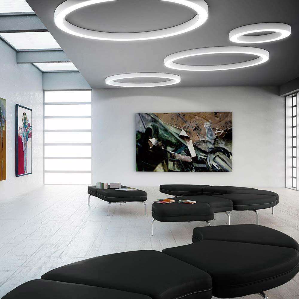 panzeri silver ring led ringleuchte 78cm weiss deckenleuchte kaufen bei. Black Bedroom Furniture Sets. Home Design Ideas