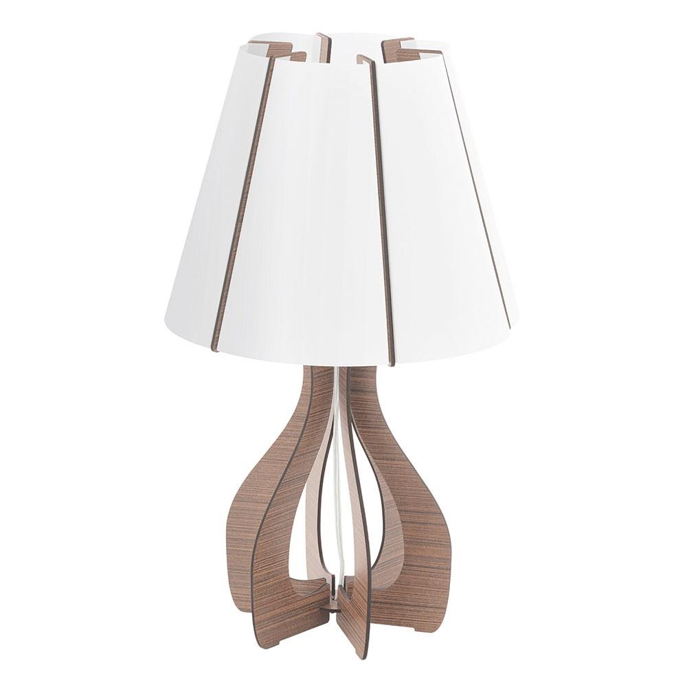 Eglo 94954 Cossano Holz Tischlampe Braun Weiss Kaufen Bei Licht