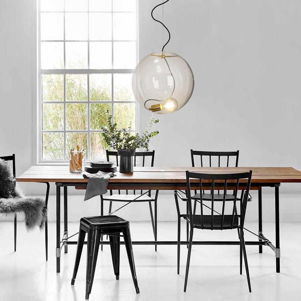 s luce glaskugel sphere 40 mit loser fassung goldfarben glaslampe h ngeleuchte kaufen bei. Black Bedroom Furniture Sets. Home Design Ideas