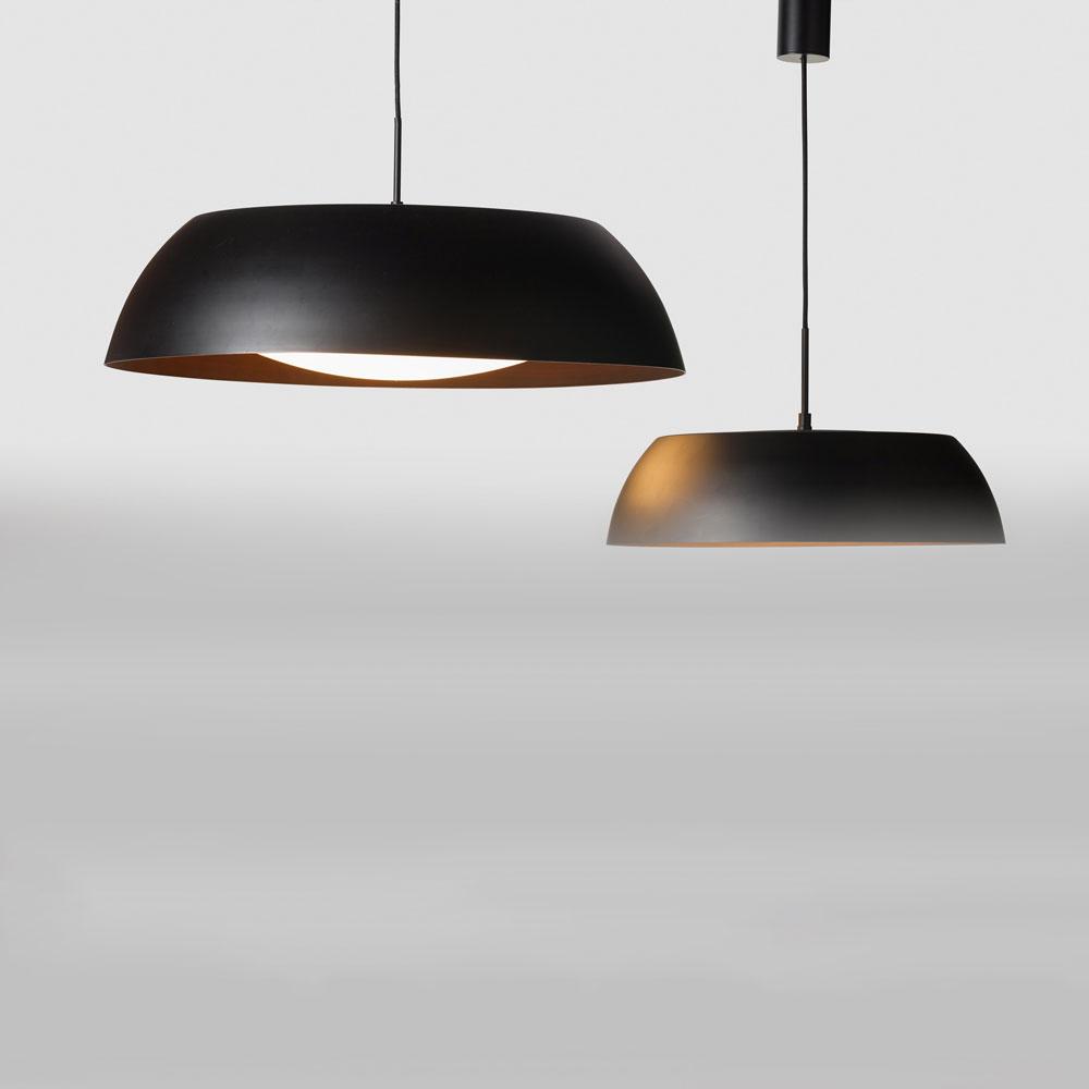 Licht Trend Cap M Ø40cm dimmbare LED Pendelleuchte Schwarz Bronze