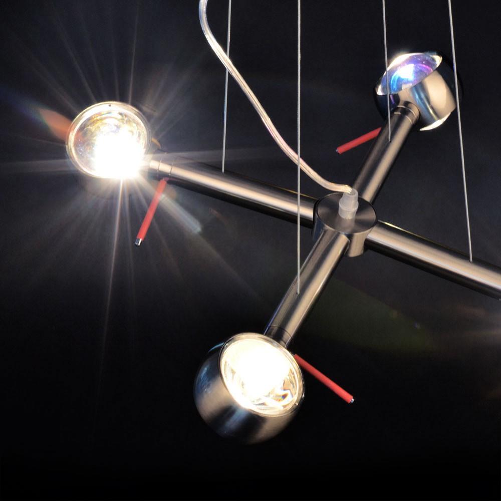 s luce beam effekt h ngeleuchte 4 flammig alu geb rstet h ngelampe kaufen bei licht. Black Bedroom Furniture Sets. Home Design Ideas
