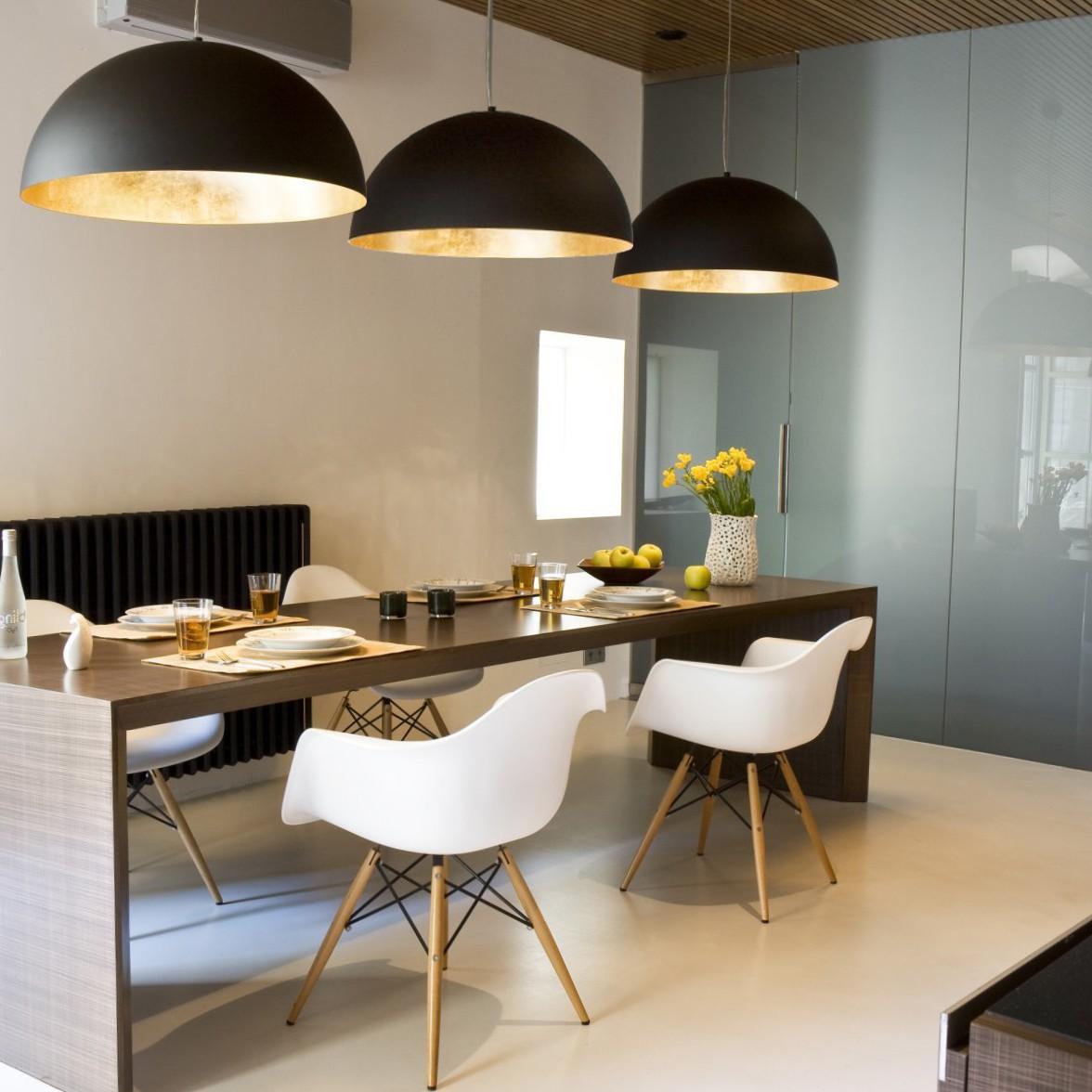 s luce blister pendelleuchte 55 cm schwarz gold esstischlampe h ngeleuchte kaufen bei. Black Bedroom Furniture Sets. Home Design Ideas