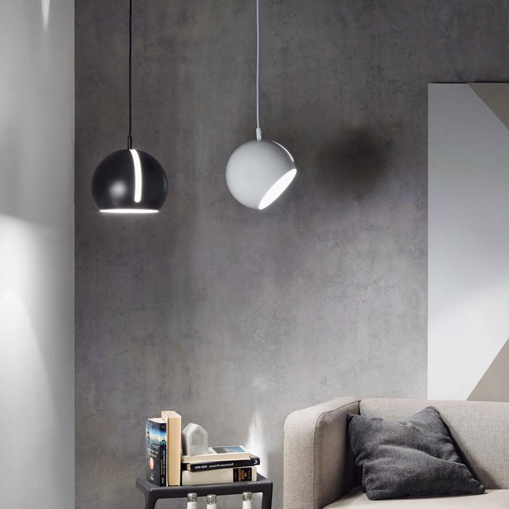 s luce ball pendelleuchte verstellbar 20cm schwarz. Black Bedroom Furniture Sets. Home Design Ideas