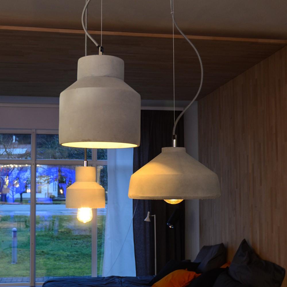 s luce plinth l h ngeleuchte aus beton 28 cm grau pendelleuchte kaufen bei licht. Black Bedroom Furniture Sets. Home Design Ideas