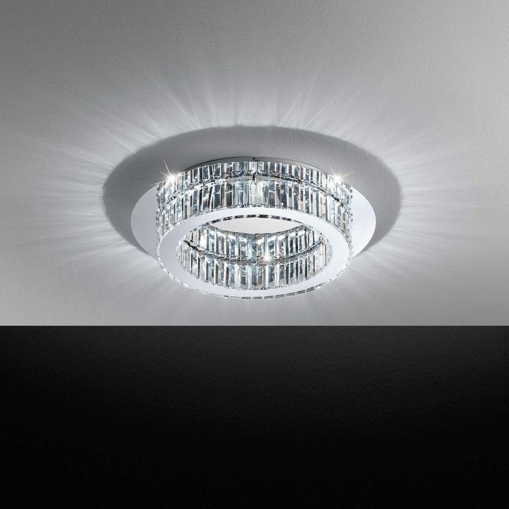 corliano kristall led deckenleuchte chrom 20w deckenlampe. Black Bedroom Furniture Sets. Home Design Ideas