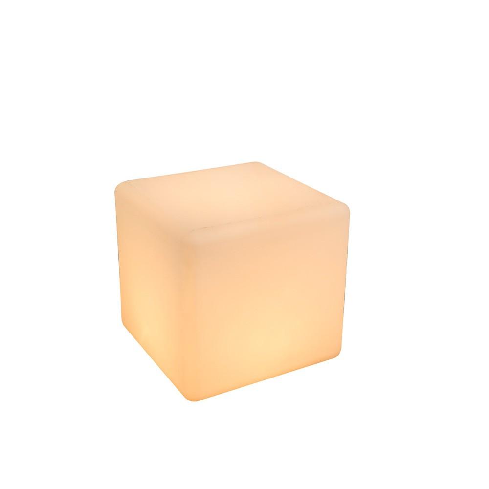 cavez leuchtwürfel 30 x 30cm außenleuchte aus kunststoff e27