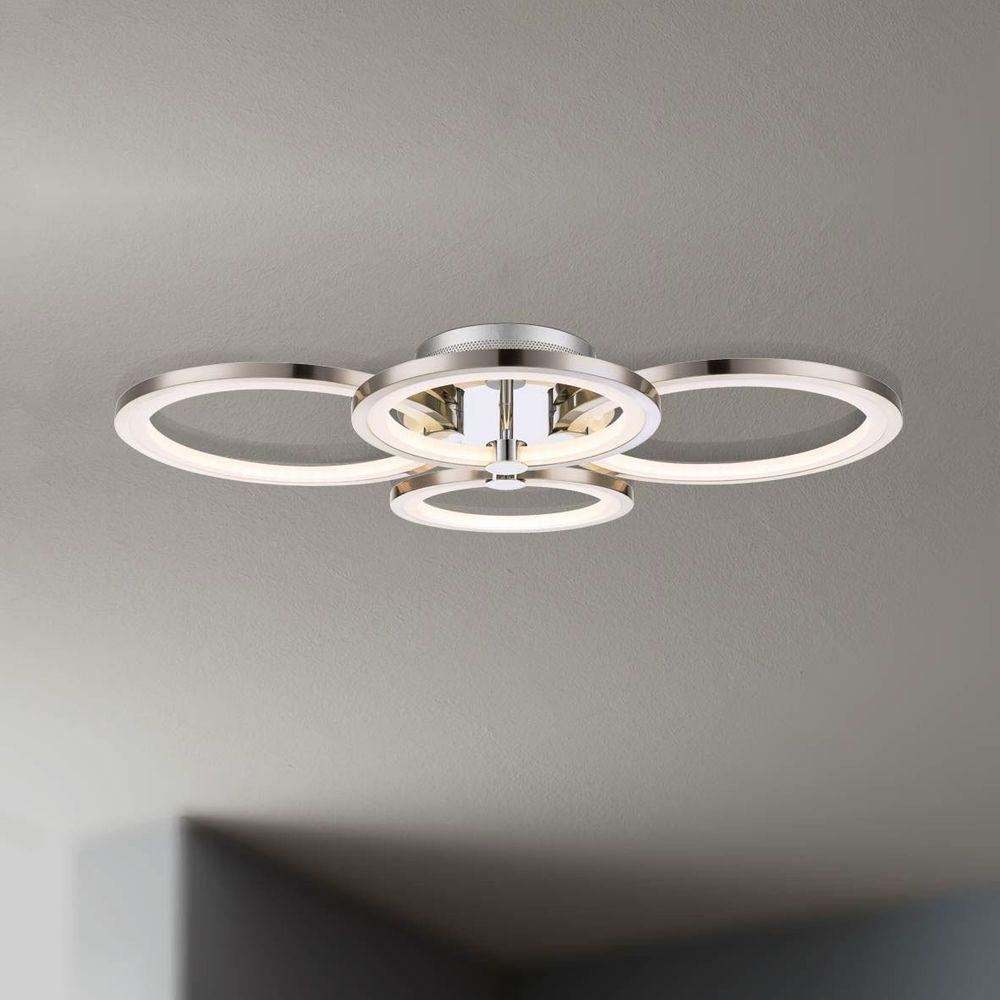 licht trend equal led deckenleuchte 4 flg nickel matt chrom deckenlampe kaufen bei licht. Black Bedroom Furniture Sets. Home Design Ideas