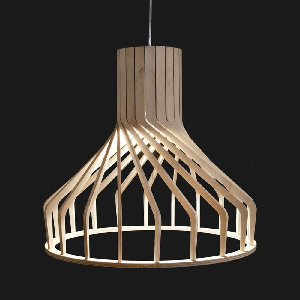 licht trend woody holz pendelleuchte 38 cm buche. Black Bedroom Furniture Sets. Home Design Ideas