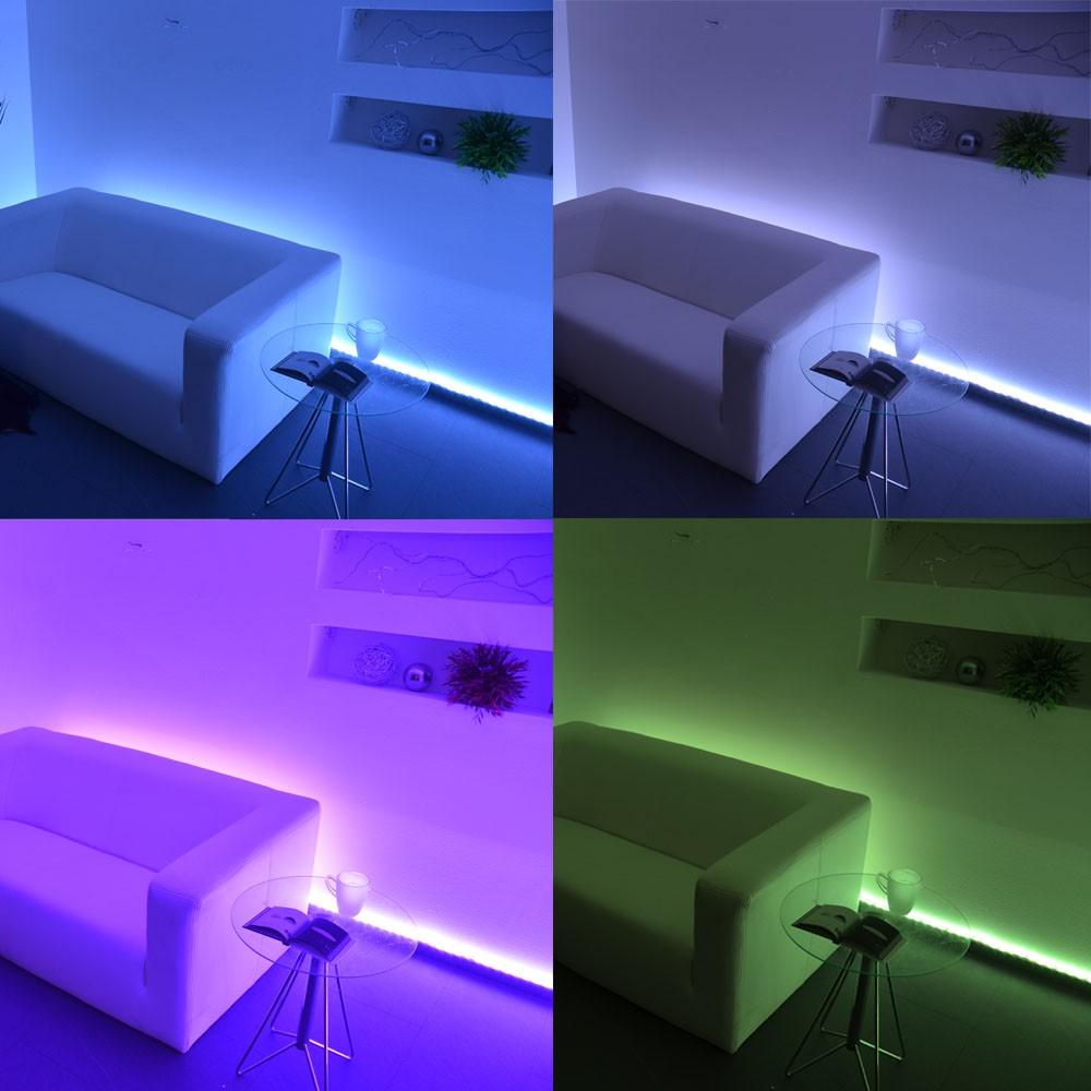 digitaler led strip rgb 5m set 150 leds 30w inkl fernbedienung lichtband kaufen bei. Black Bedroom Furniture Sets. Home Design Ideas