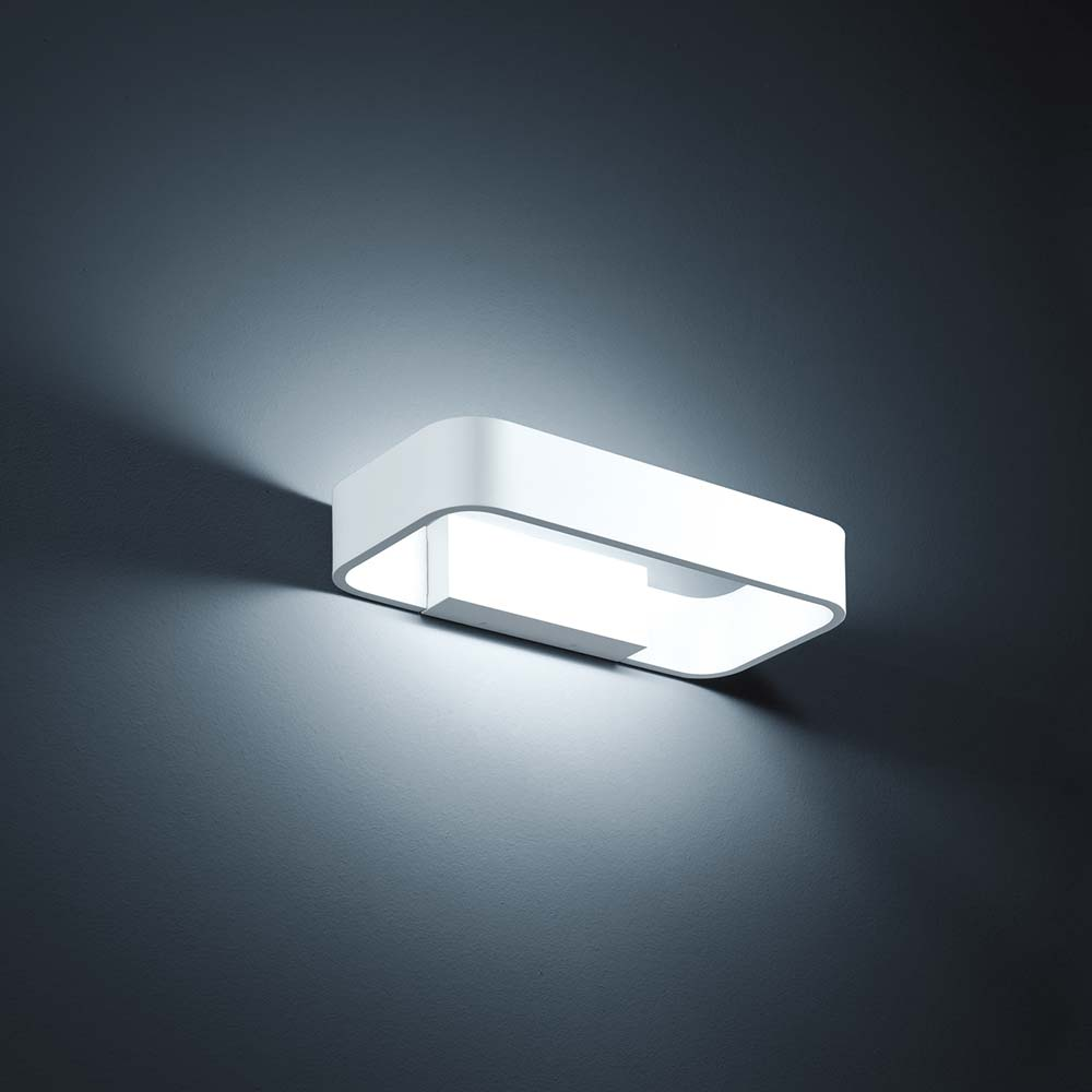 Helestra LED LED LED Außen-Wandlampe Rail IP54 Weiss-Matt 2df4d4