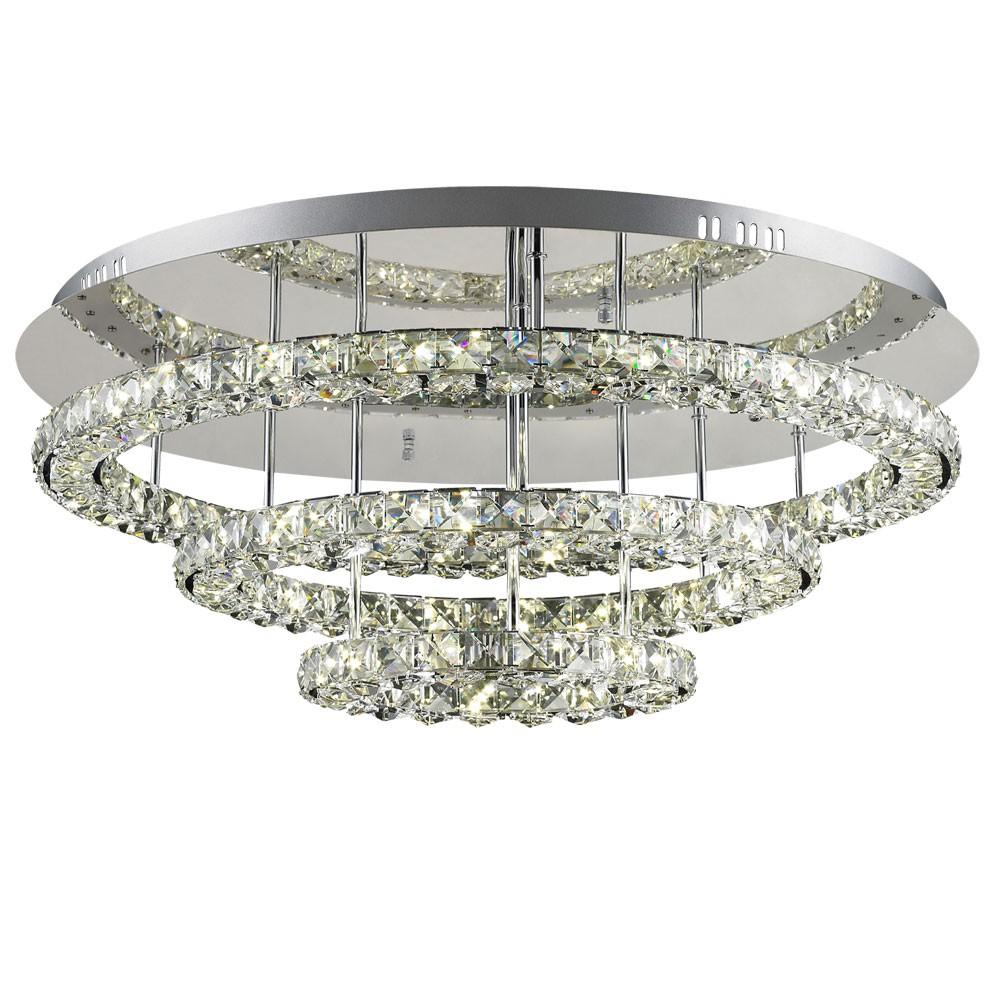 licht trend led deckenleuchte 72 w kristall 75cm chrom. Black Bedroom Furniture Sets. Home Design Ideas