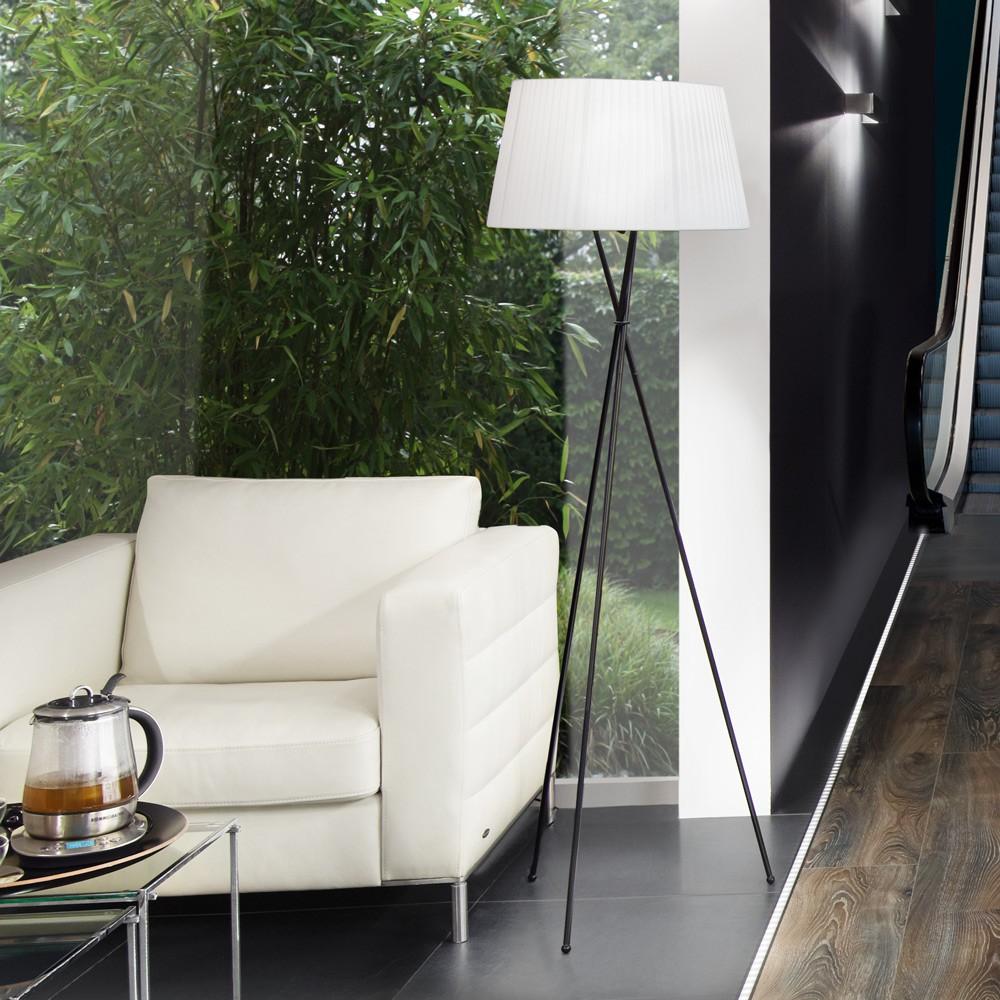 s luce angela stehleuchte 168 cm dreifuss wohnzimmer. Black Bedroom Furniture Sets. Home Design Ideas