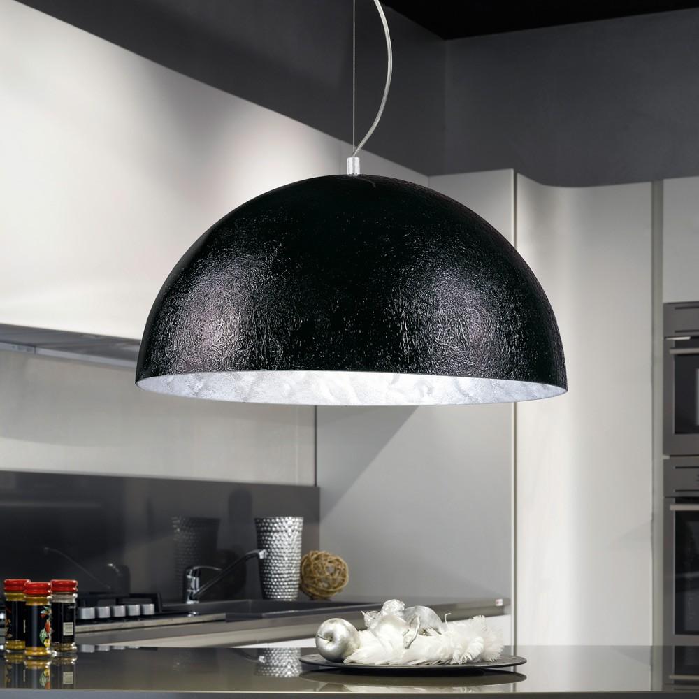 s luceblister pendelleuchte 70 cm schwarz silber esstischlampe h ngelampe kaufen bei. Black Bedroom Furniture Sets. Home Design Ideas