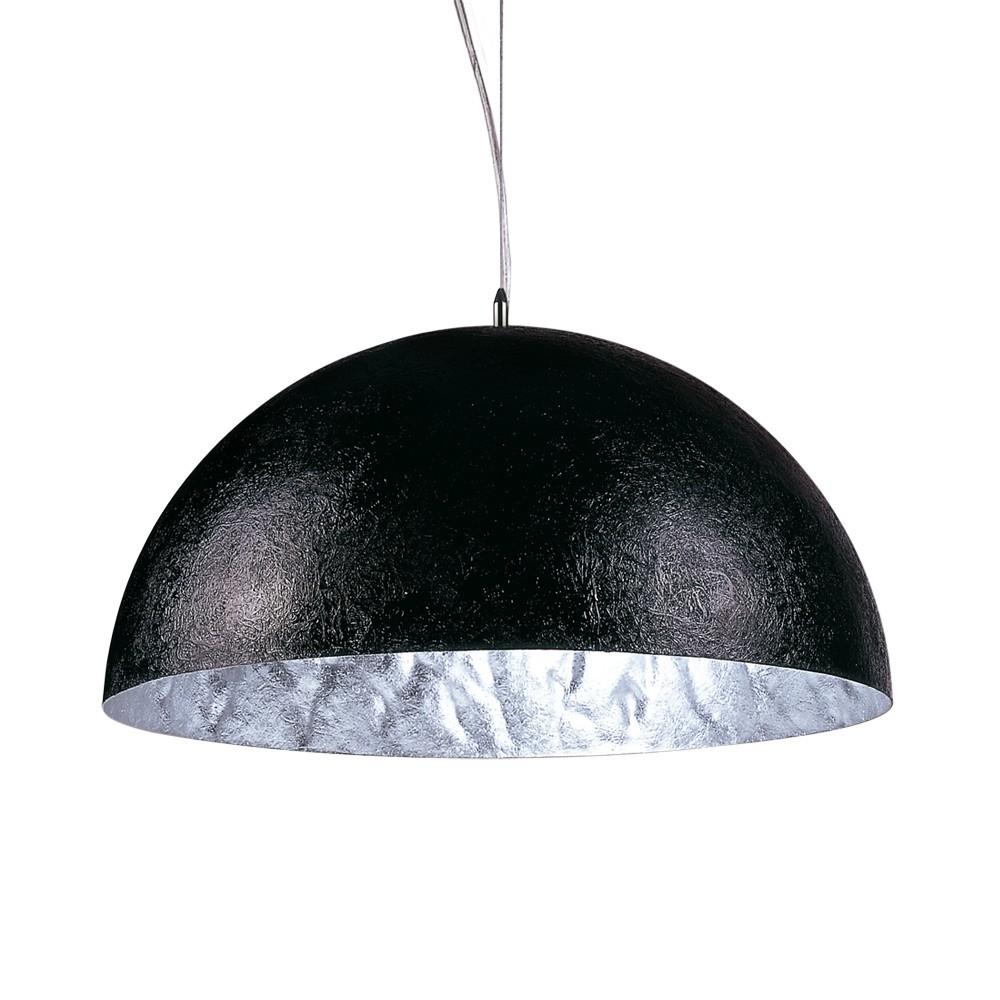 s luce blister pendelleuchte 40 cm schwarz silber. Black Bedroom Furniture Sets. Home Design Ideas
