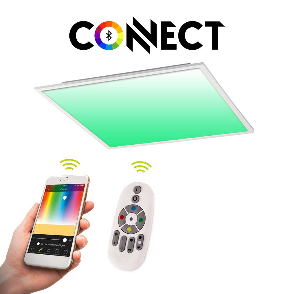 LED-Panel Connect 45x45cm 3000lm 21W RGB + CCT LED Deckenleuchte Lampe