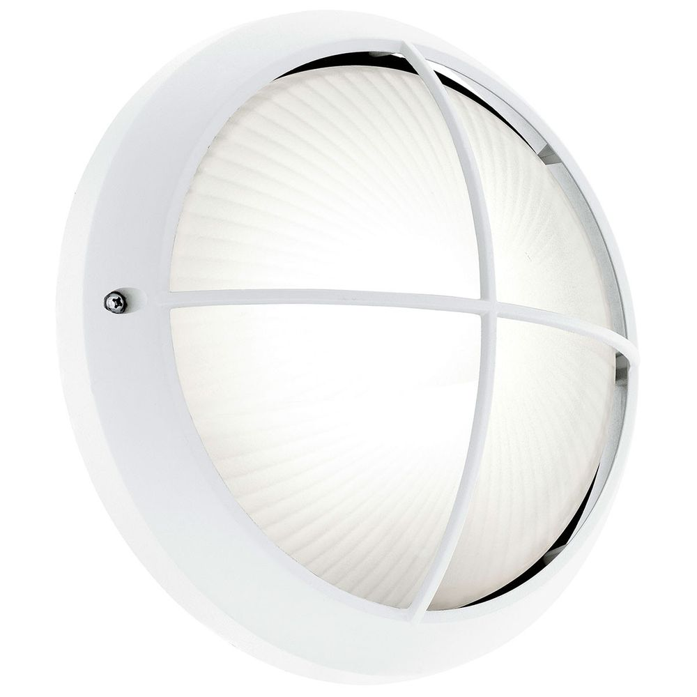 Eglo 93263 Siones LED Aussen-Wandleuchte Ø 26cm Weiss