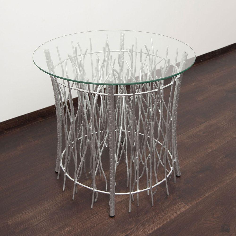 holl nder 280 k 2506 s tisch relitto rund metall glas silber kaufen bei licht design skapetze. Black Bedroom Furniture Sets. Home Design Ideas