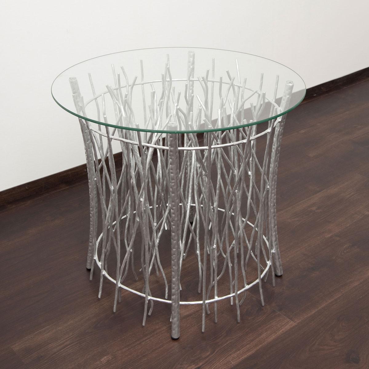 holl nder 280 k 2506 s tisch relitto rund metall glas silber kaufen bei licht design. Black Bedroom Furniture Sets. Home Design Ideas