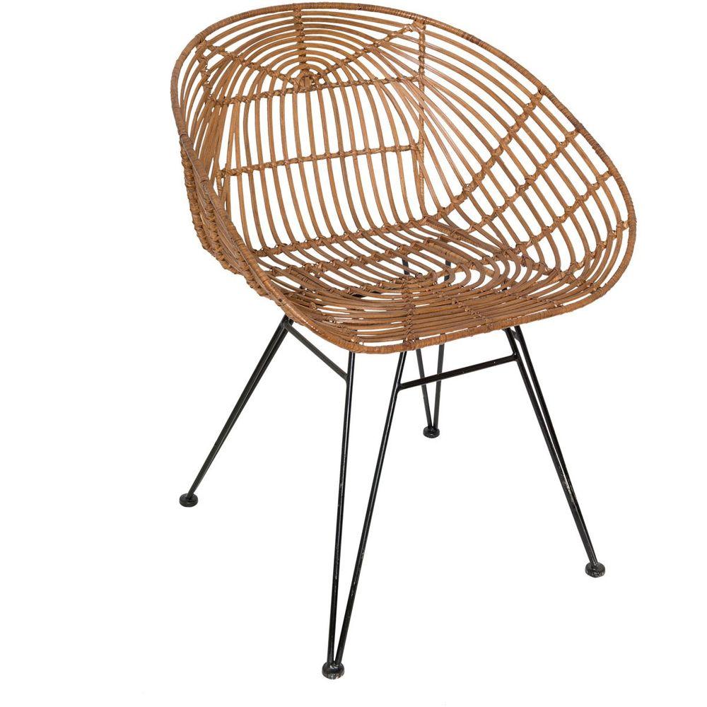 Holländer 358 2715 Stuhl Mit Lehne Seguito Rattan Metall