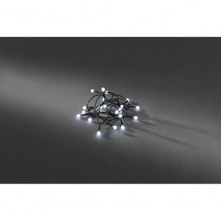 LED Globelichterkette runde Dioden Timer 50 Kaltweiße Dioden batteriebetrieben für Innen