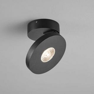 Helestra LED Deckenspot Goto schwenkbar IP54 Schwarz
