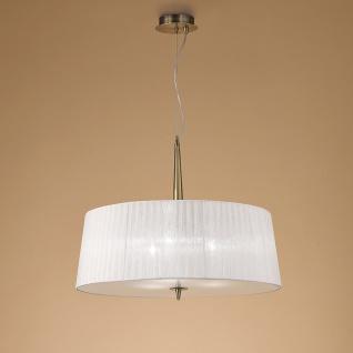 Mantra Loewe Hängeleuchte 3-flammig mit großem Lampenschirm