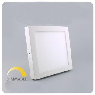 LED Deckenleuchte Dimmbar 22, 5x22, 5cm Warmweiß 1440lm Weiß
