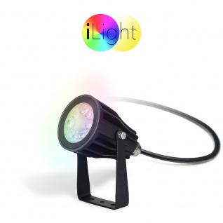 s.LUCE iLight LED-Gartenstrahler 6W RGB + CCT LED-Lampe Farbwechsel & Dual White