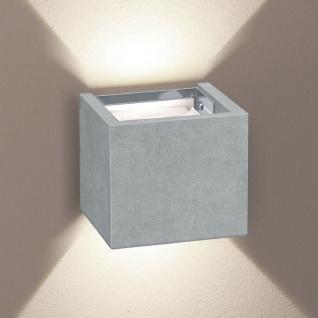 s.LUCE pro LED Wandleuchte Ixa zwei verstellbare Winkel Beton Wandlampe