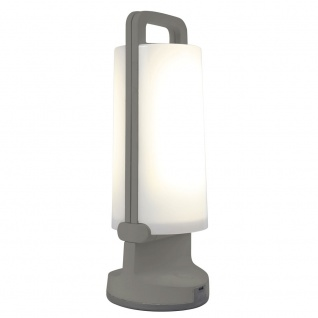 Mobile LED Solarlampe Dragonfly IP54 Silber Solar Gartenlampe Gartenleuchte