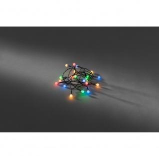 LED Globelichterkette runde Dioden Timer 20 bunte Dioden batteriebetrieben für Innen