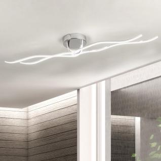 Eglo Roncade LED-Deckenleuchte 110cm 3600lm Chrom Deckenlampe