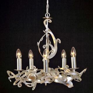 Holländer 178 1505 Hängeleuchte 5-flammig Buono Eisen Silber
