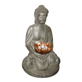LED Garten Solarleuchte Buddha 30cm Solar Gartenlampe Gartenleuchte - Vorschau 2