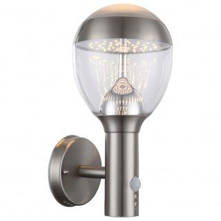 Globo 34250S Callisto Aussenleuchte Edelstahl Dunkelgrau LED