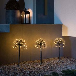 LED Spießleuchte mit 3 Pusteblumen Schwarz