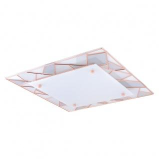 Eglo 94747 Pancento 1 LED Wand & Deckenleuchte 16 W Stahl Kupferfarben Glas satiniert Weiß