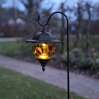 Premium LED Solarspieß mit buntem Dekor 90cm Solar Gartenlampe Gartenleuchte