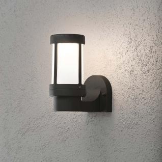 Konstsmide 7513-752 Siena Aussen-Wandleuchte Schwarz opales Glas