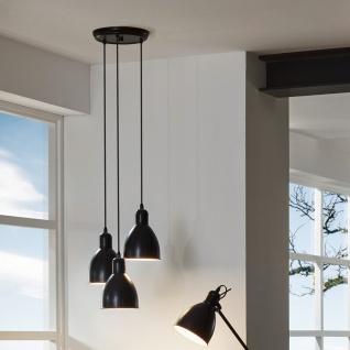 licht trend bonny vintage h ngeleuchte 3 flg schwarz retro pendelleuchte kaufen bei licht. Black Bedroom Furniture Sets. Home Design Ideas