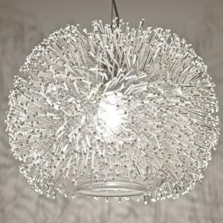 Terzani Sea Urchin Hängeleuchte Nickel Silber Weiss Hängelampe